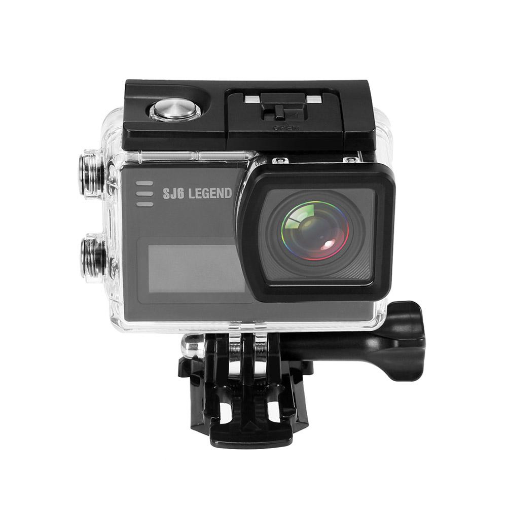 SJCAM SJ6 Legend WiFi Action Camera 2.0 Inch LCD Touch Screen 4K 16MP Sensor 166 Degree Wide Angle Len Gyro stabilization With Waterproof Case - Black