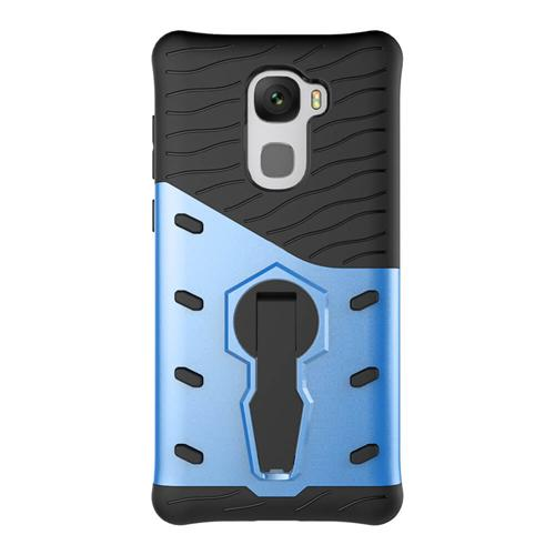 Armor Serie Beschermende Telefoon Case 360 Degree Roterende Beugel Stand Cover Voor LeTV LeEco Le Pro3 / X720 - Blauw