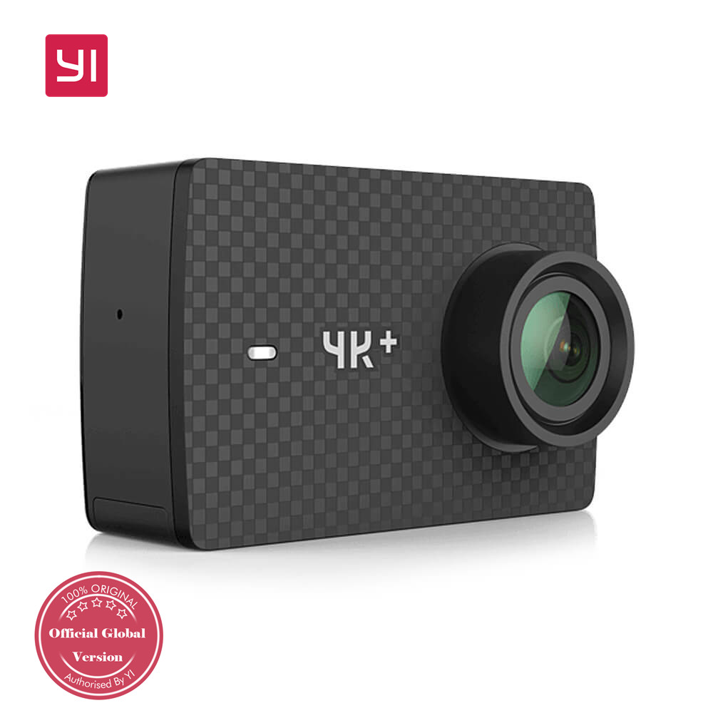 "YI 4K+ Action Camera 2.19"" Ambarella H2 SONY IMX377 12MP 155 Degree Wide Angle Built-in 1400mAh Battery 4K Ultra HD - Black"