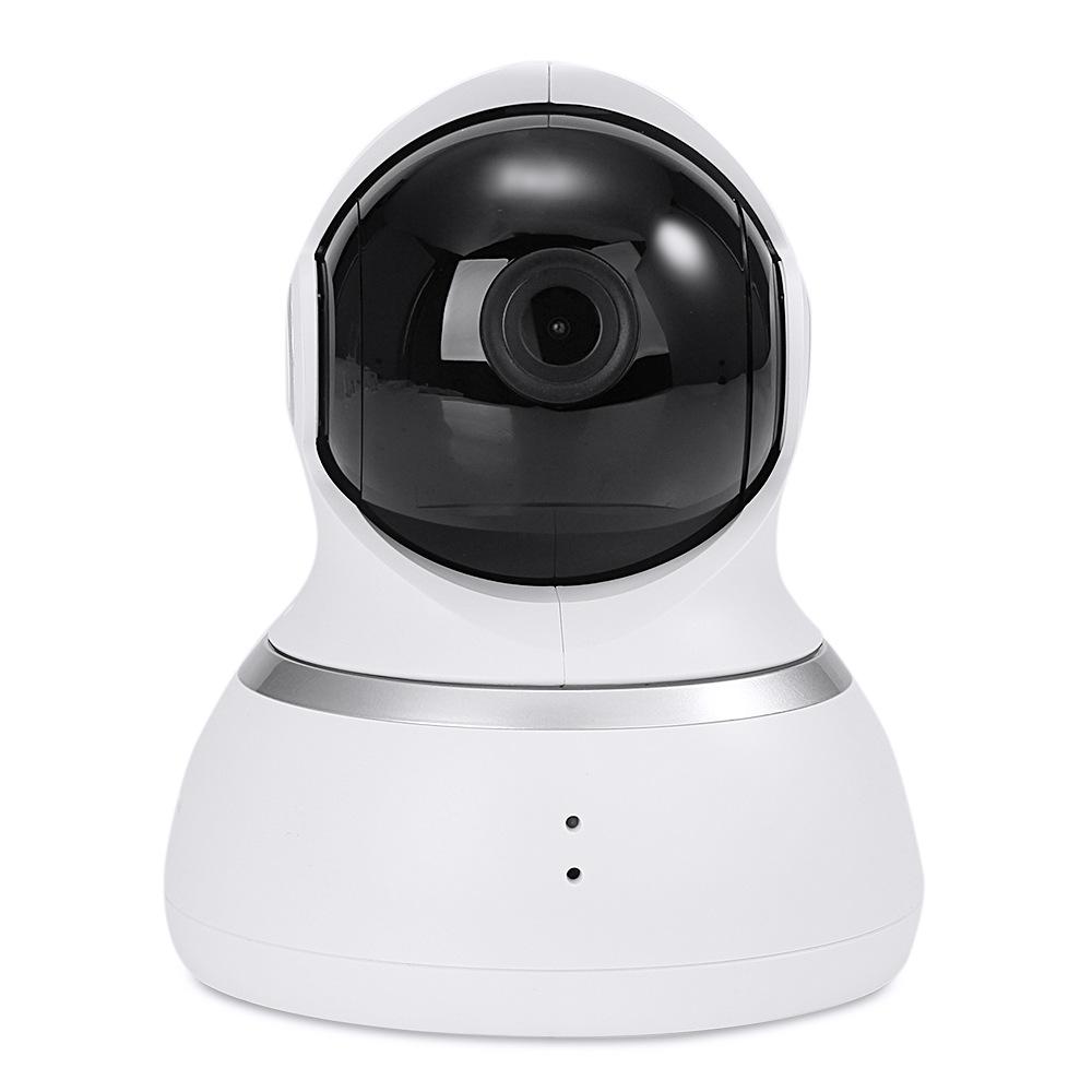 Cámara original Xiaoyi YI 1080p Sistema de seguridad para el hogar Cámara IP WiFi 360 Degree Rotación Visión nocturna Detección de movimiento Bidireccional - Blanco (enchufe de la UE)