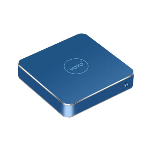 VOYO VMac Celeron N3450 4GB/120GB Windows 10 Mini PC 4K 2.4G WIFI Gigabit LAN LibreELEC - Blue