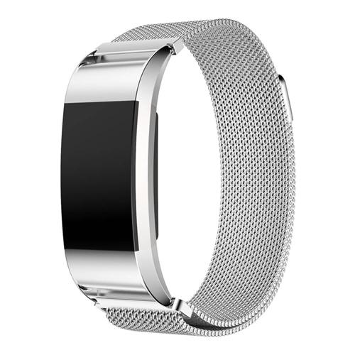 Replaceable Stainless Steel Metal Watch Band Strap For Fitbit Charge 2 - Silver Other