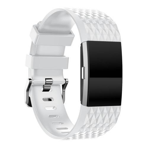 Сменный силиконовый ремешок для Fitbit Charge 2 Smart Bracelet - белый
