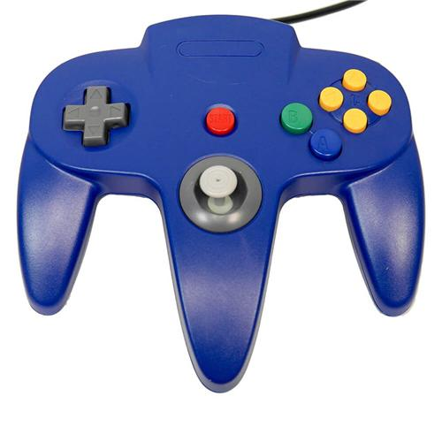Classic Retro N64 Bit USB Wired Controller for PC and MAC - Blue