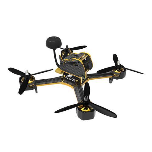AWESOME TS-195 195mm F3 5.8G 40CH VTX 800TVL Camera BLHeli_S 20A ESC Extra Curved Arms FPV Racing Drone PNP - Black+Golden