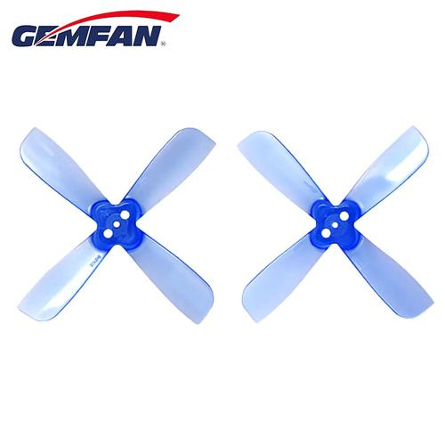 Gemfan 2035BN 2 X 3.5 4-Blade Propeller 1.5mm Mounting Hole CW CCW for Micro Racing Quadcopter - Blue
