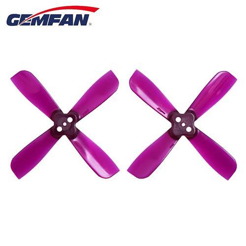 Gemfan 2035BN 2 X 3.5 4-Bladeプロペラ1.5mm取り付け穴CW CCW for Micro Racingクアドコプター - パープル