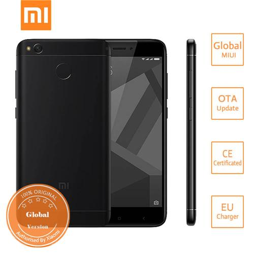 Xiaomi Redmi 4X 5.0 Inch HD Screen Qualcomm Snapdragon 435 Octa Core 3GB 32GB MIUI 8 4G LTE Smartphone 4100mAh Battery Metal Body Global Version - Black