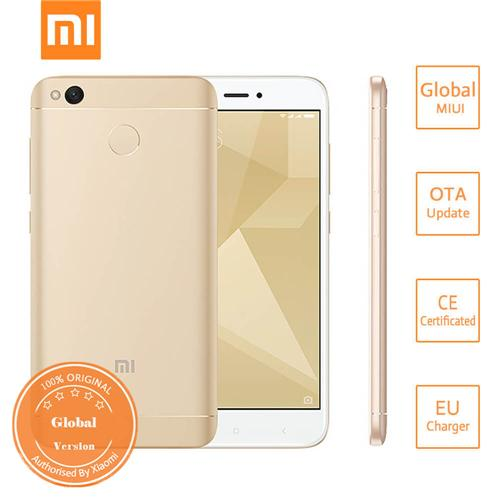Xiaomi Redmi 4X 5.0 Inch HD Screen Qualcomm Snapdragon 435 Octa Core 3GB 32GB MIUI 8 4G LTE Smartphone 4100mAh Battery Metal Body Global Version - Gold