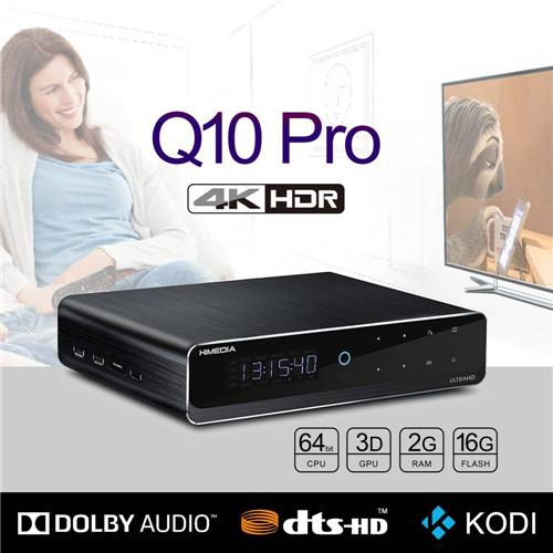 "Himedia Q10 Pro Android 7.0 Hi3798CV200 4K HDR 2GB/16GB TV BOX 802.11AC WIFI 1000M LAN Dolby DTS-HD 3D Blu-ray 3.5"" SATA HDD Bluetooth Media Player"