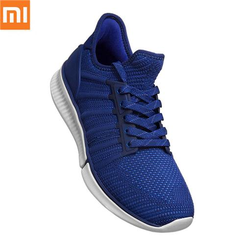 Xiaomi Mijia Sneakers 2mm High Elastic Knitting Uppers Fishbone Bionic Structure TPU Inside Mijia Running Shoes Without Chip - Blue /Size 40 (Man)