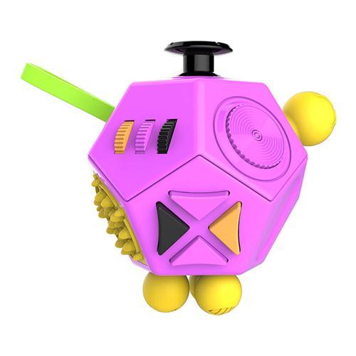 12 jednostronne kostki Fidget łagodzi stres zabawki