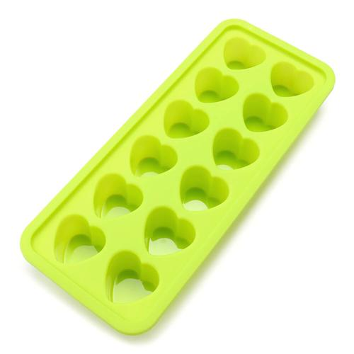 12 Mini Ice Cubes Trays Silicone Ice Cube Mold - Green