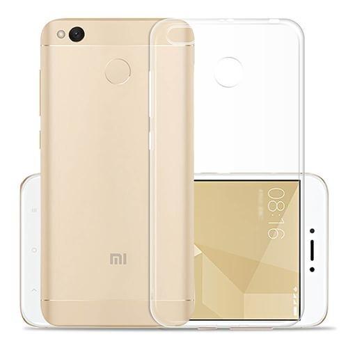 Silicon Back Cover High Quality Protective Soft Case Phone Shell Screen Protector For Redmi 4X - Transparent фото