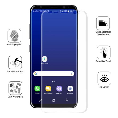 Hat-Prince 0.1 mm 3D Explosion-proof Membrane Screen Film Glass Screen Protector For Galaxy S8 Plus - Transparent