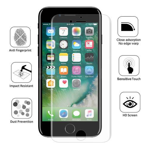 Chapeau-Prince 0.1 mm 3D Antidéflagrant Membrane Film Screen Protecteur D'écran Pour iPhone 8 Plus / iPhone 7 Plus - Transparent