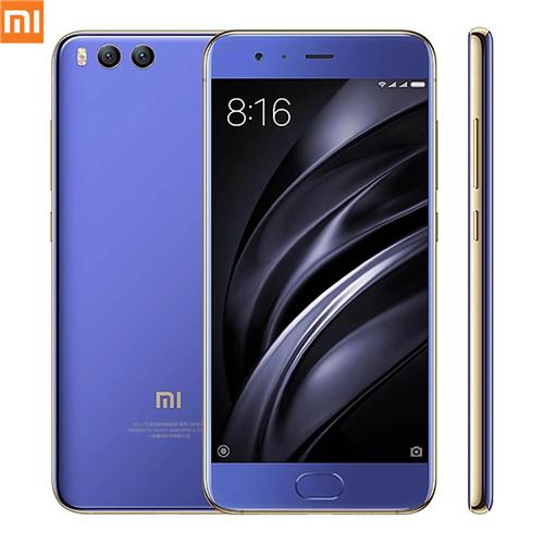 Xiaomi Mi6 5.15 Inch 4G LTE Smartphone 6GB 128GB Snapdragon 835 12.0MP Cam Android 7.1 NFC Dual Rear Cam Four-sided Curved 3D Glass Body Global ROM - Blue