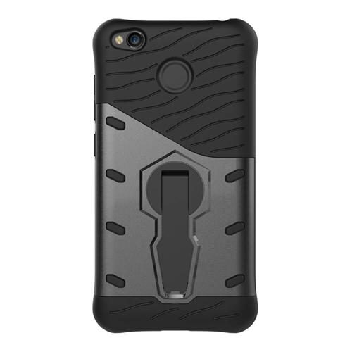 Armour Series Protective Phone Case 360 Degree Rotating Bracket Stand Cover For Redmi 4X - Black