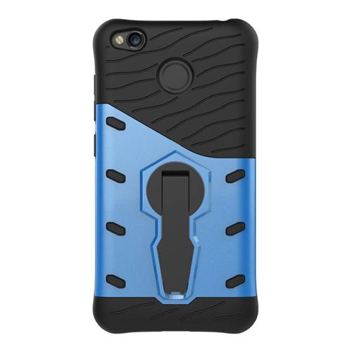 Armour Series Protective Phone Case 360 Degree Rotating Bracket Stand Cover Screen Protector For Redmi 4x - Blue