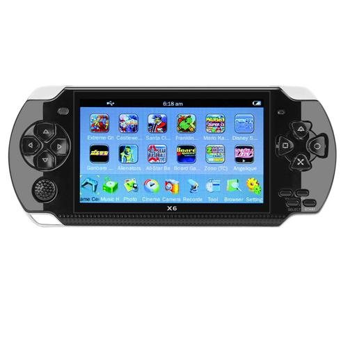 Coolboy X6 Handheld Game Console Real 8GB Memory 4.3 Inch Portable Video Game Built in Thousand Free Games - Black