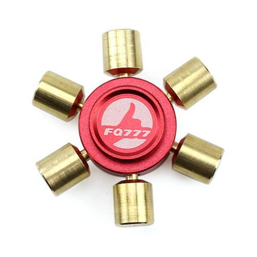 FQ777 Sárgaréz hatszögletű Fidget Hand Spinner ujjak Gyro csökkentik a stressz figyelmet Figyelem - piros és arany