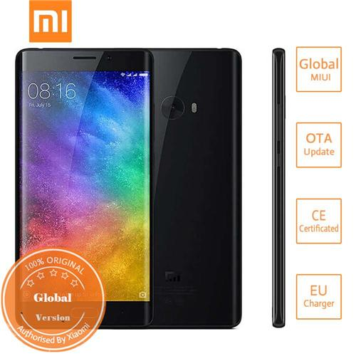Xiaomi Note 2 5.7inch 4G+ LTE Smartphone OLED Curved FHD Screen Snapdragon 821 6GB 128GB 22.56MP NFC 3D Curved Glass Global Version - Jet Black