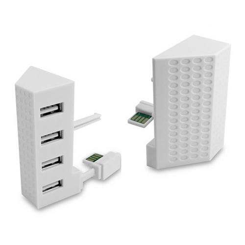 4 USB Ports High Speed Hub Adapter Expansion for Xbox One Slim - White