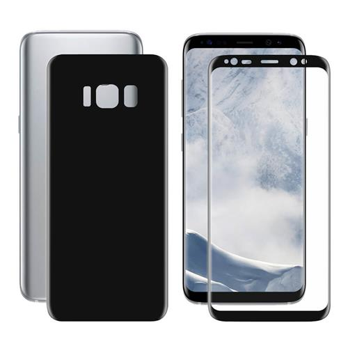 ENKAY Hat-Prince 0.1 mm 3D PET HD Front + Back Screen Protector Screen Film For Galaxy S8 Plus - Black