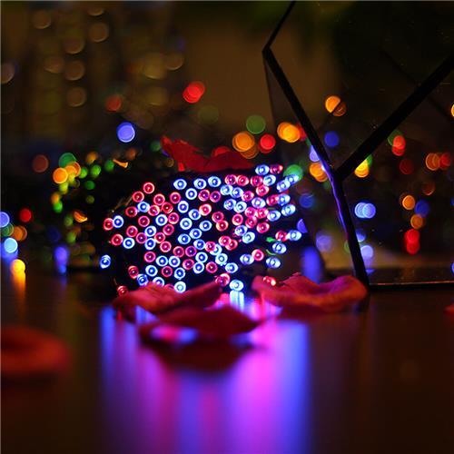 Intelamp YL003-3C LED Light Solar Powered IP55 Waterproof 12M 100LED String Light Outdoor Light