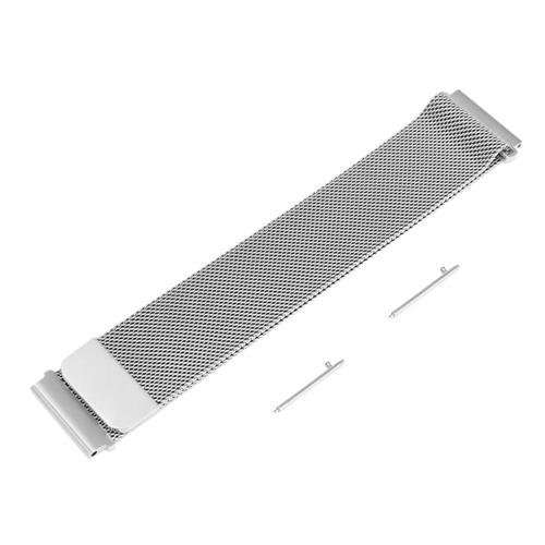 Universal 22mm Replacement Metal Milan Magnetic Suction Watch Bracelet Strap Band For Xiaomi Huami Amazfit Makibes EX18 GV01 GV02 GV68 - Silver фото