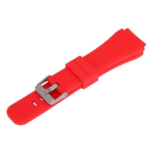 Universal 22mm αντικατάσταση ρολόι σιλικόνης βραχιόλι ταινία λωρίδα για Xiaomi Huami Amazfit μακίβες EX18 GV68 G01 G02 - κόκκινο