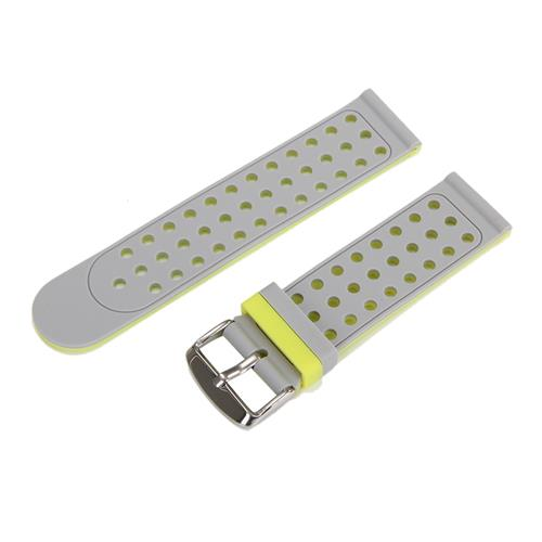 Universal 22mm Replacement Silicon Watch Bracelet Strap Band with Hole For Xiaomi Huami Amazfit - Gray Green