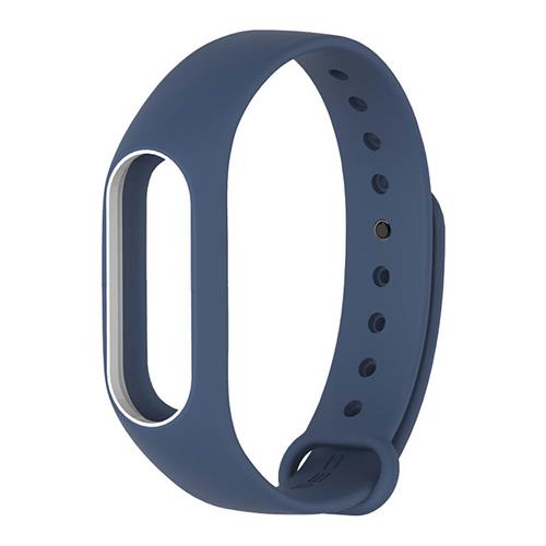 Xiaomi miband 2 Replacement Silicon Strap Band Deep Blue White