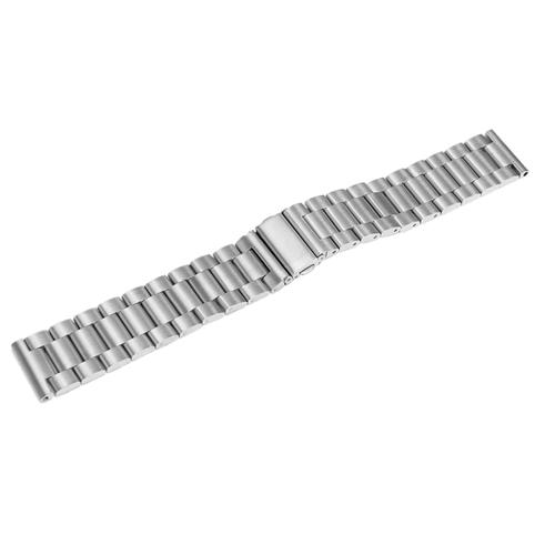 Universal 22mm Replacement Stainless Steel 316L Watch Bracelet Strap Band For Xiaomi Huami Amazfit Makibes EX18 GV01 GV02 GV68 - Silver Other