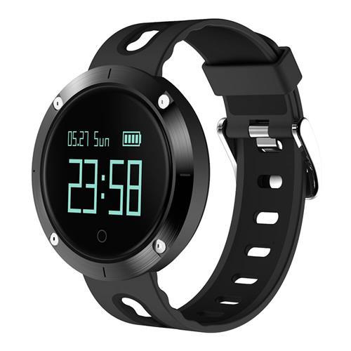 Makibes DM58 Έξυπνο ρολόι Μετρητής πίεσης αίματος καρδιακής συχνότητας Bluetooth Παρακολούθηση υγείας IP68 Ανθεκτικό στο νερό Συμβατό με iOS Android - Μαύρο