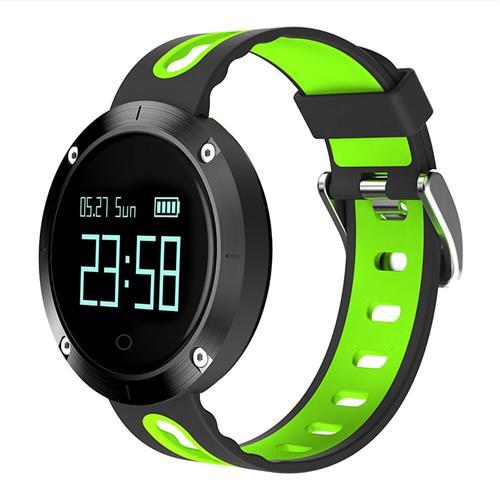 Makibes DM58 Smart Watch Monitor di pressione sanguigna Bluetooth Heart Tracker IP68 Resistente all'acqua Compatibile con iOS Android - Verde
