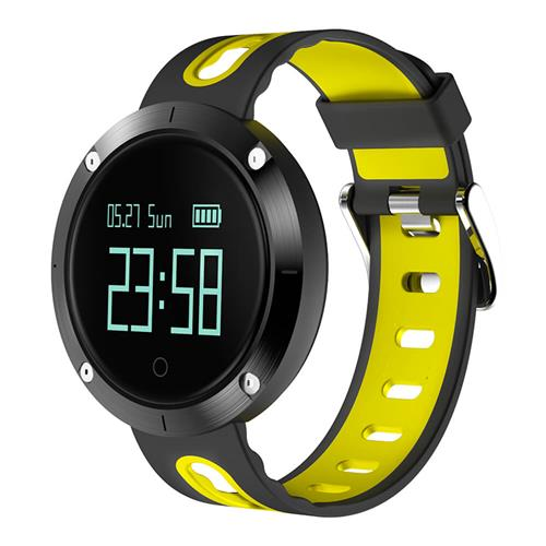 Makibes DM58 Smart Watch Bluetooth Heart Rate Blood Pressure Monitor Health Tracker IP68 Water Resistant - Yellow