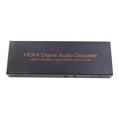 51S 1080P HDMI TO HDMI VGA SPDIF 5.1CH RCA Digital Multi-channel Audio Decoders DSP - EU Plug