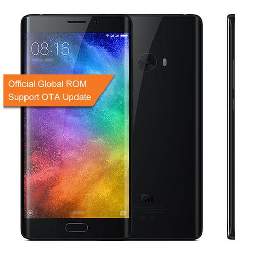 Xiaomi Note 2 5.7inch OLED Curved FHD Screen Android 6.0 OS 4G+ LTE Smartphone Qualcomm Snapdragon 821 4GB 64GB 22.56MP Touch ID NFC 3D Glass Cover Global ROM - Jet Black