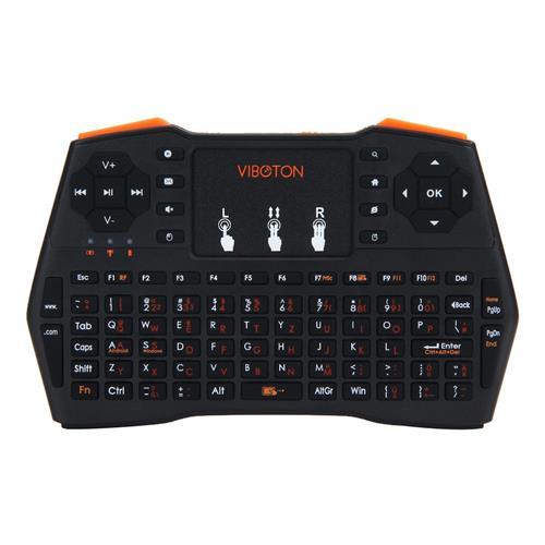 VIBOTON i8 Plus Handheld 2.4G Wireless Keyboard Touch Gamepad - German Version Black