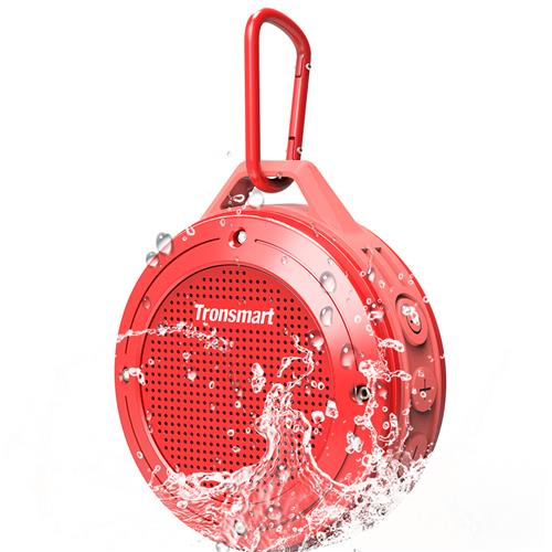 Tronsmart Element T4 5W Portable Bluetooth Speaker[IP67 Waterproof] with Enhanced Bass and Built-in Microphone - Red