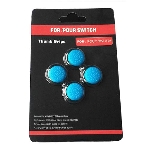 ACGAM Thump Grips 4in1 Non-slip TPU Soft Silicone Cap Cover for Nintendo Switch - Blue
