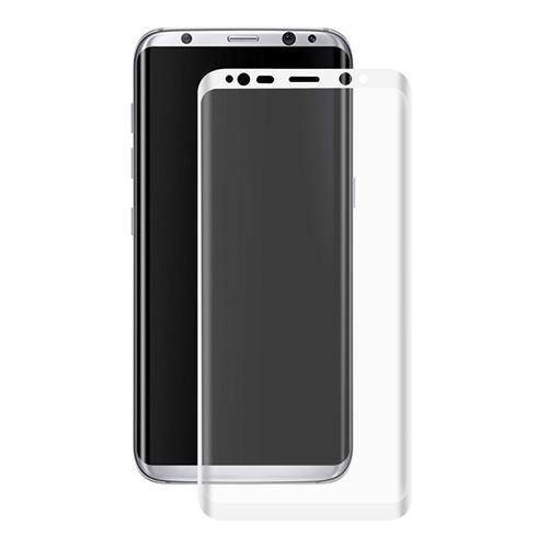 White Samsung Galaxy S8 Tempered Glass ENKAY Hat-Prince 0.26mm 3D Screen Film Screen Protector Glass Film