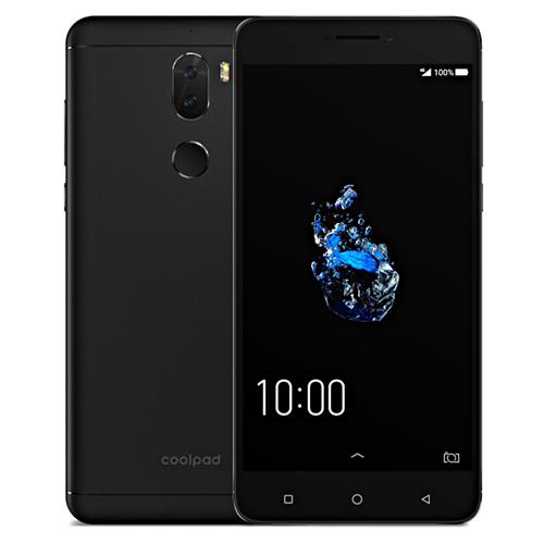 Coolpad Cool Play 6 5.5 Inch 4G LTE Smartphone Dual 13.0MP Rear Cam FHD Screen 6GB 64GB Snapdragon 653 Android 7.1 4060mAh Fast Charge Type-C - Black