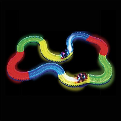 Magic Tracks Led Racing Car Assembly Toy 220pcs Race Track + 1pc LED Car