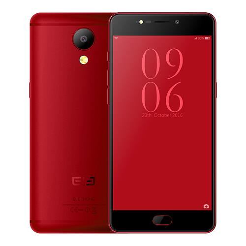 ELEPHONE P8 5.5 Inch Smartphone FHD Screen 6GB 64GB MTK Helio P25 Octa Core 21.0MP Android 7.0 Touch ID 3600mAh - Wine Red