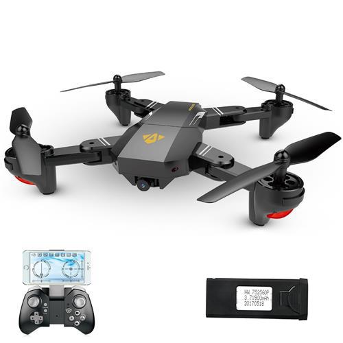ONSE XS809HW RC Quadcopter RTF ndi zopezeka 900mAh Battery Black