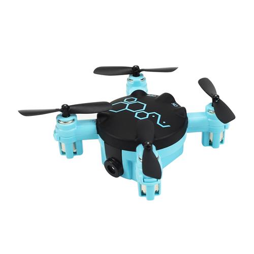 FQ777 FQ04 Beetle  Pocket Drone with Camera Headless Mode RC Quadcopter RTF - Blue