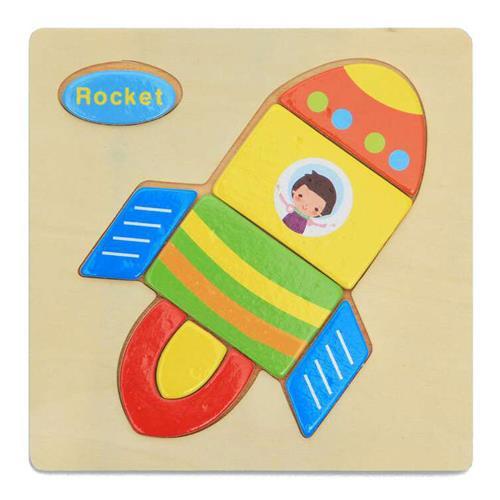 Puzzle in legno 3D Giocattoli puzzle Giocattoli educativi - Rocket