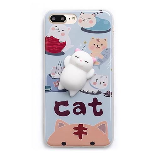 3D Custodia in TPU Custodia in Silicone Lazy Cat per iPhone 6 / 6S